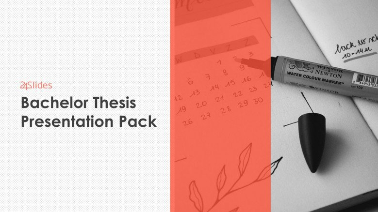 bachelor thesis template pack welcome slide