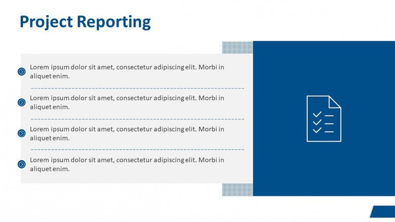 Project Reporting Slide for a Business Case Presentation