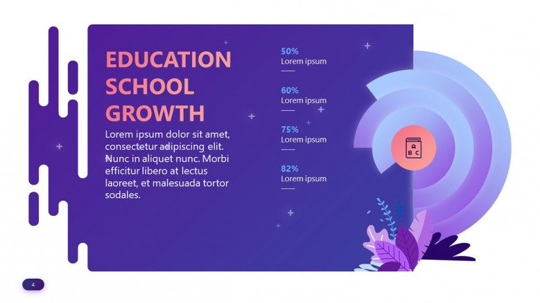 School Growth Chart in playful style