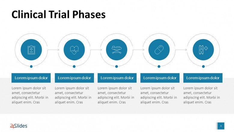 PowerPoint slide for Clinical Trial Presentation