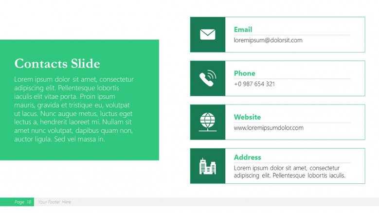 Contact Slide for a Boston Consulting Group Presentation