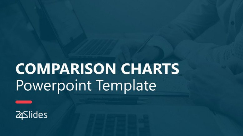 Comparison Chart ppt Template in creative style