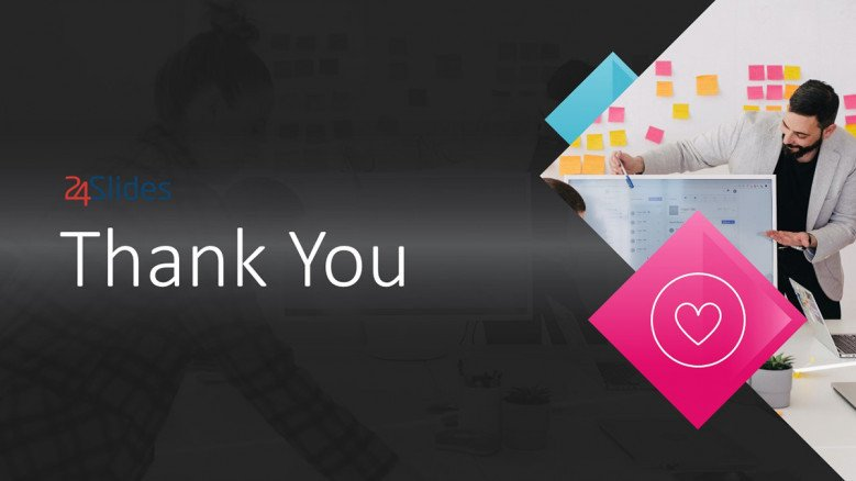 Dark-themed Thank You PowerPoint Slide for creative presentations