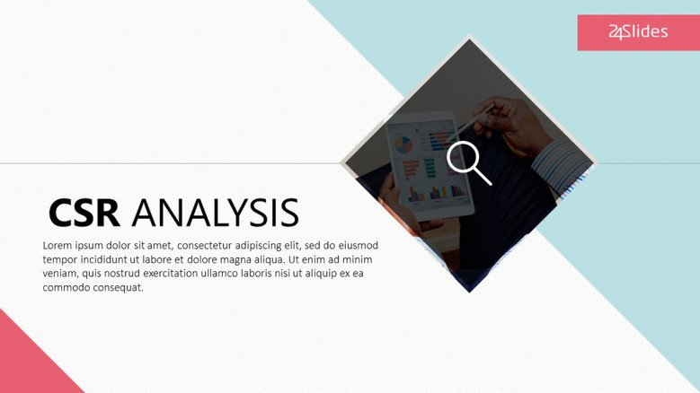 CSR Analysis welcome slide in corporate style
