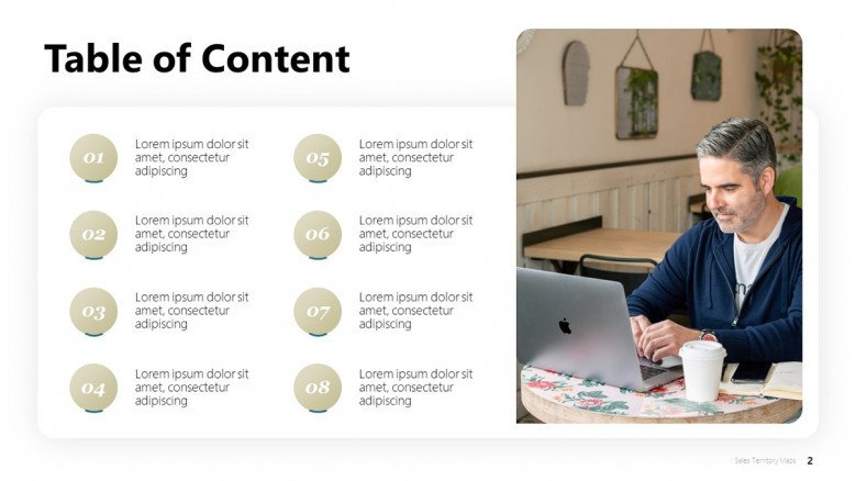 Light-themed Table of Contents Slide