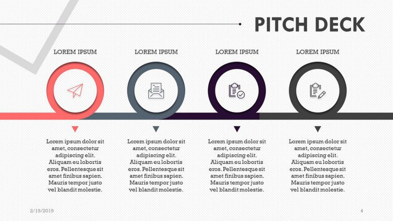 pitch deck presentation in timeline chart