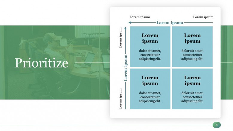 Priority Matrix Template in PowerPoint for a Time Management Presentation