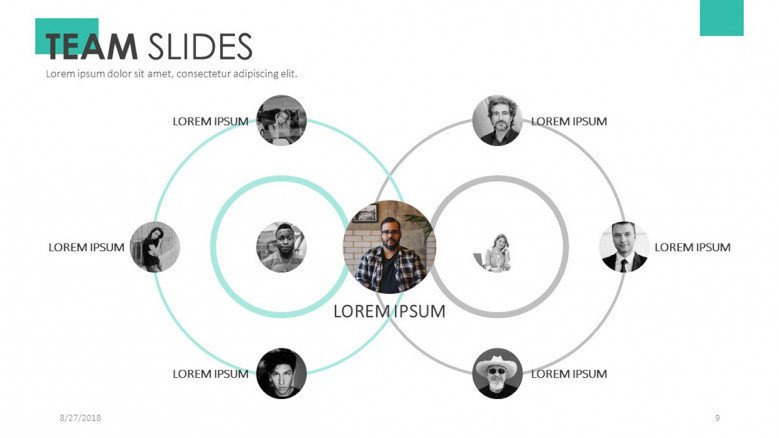 team member in circular chart with picture