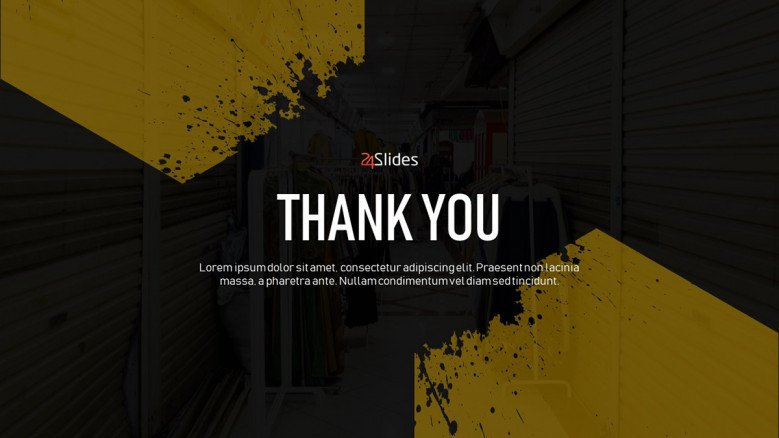 Thank You Slide for a Business Presentation