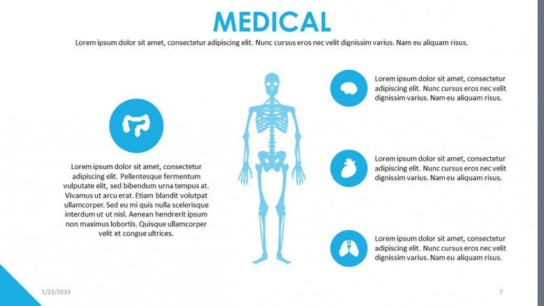human body illustration with icons and text