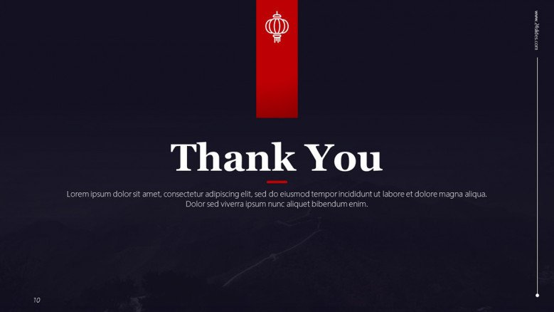 Chinese Thank you Slide in creative style