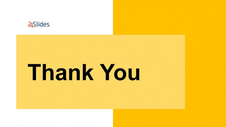 Yellow-and-white Thank You Slide