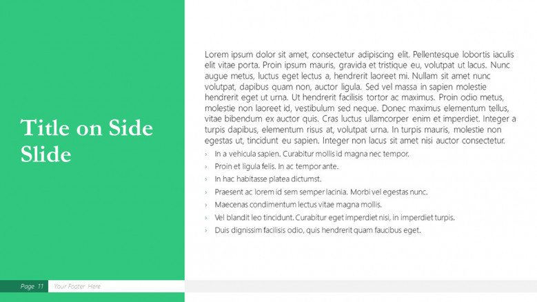 Side Text Slide for a Boston Consulting Group Presentation