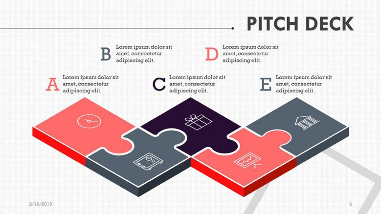 pitch deck slide in puzzle
