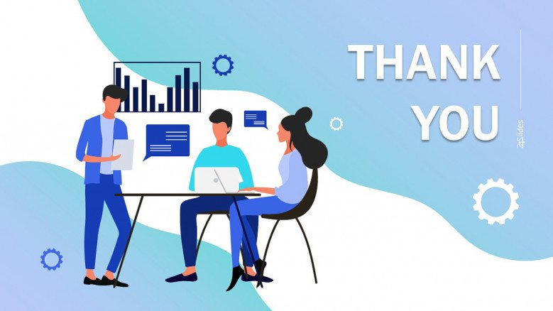 Blue Thank You Slide in playful style