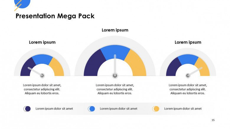 playful compared data in speed meter illustration