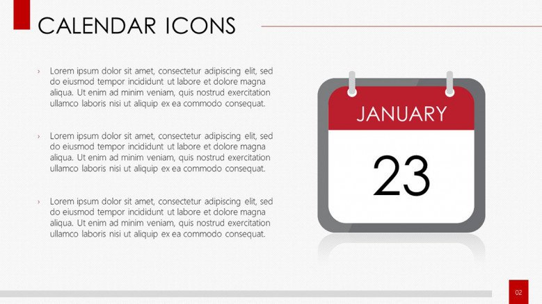 Calendar icon and description