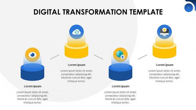 Digital Transformation Roadmap with technology icons