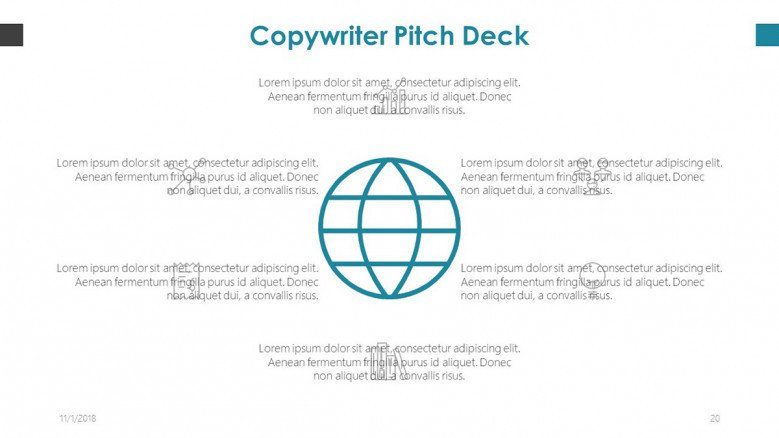 copywriter pitch deck in in mind map diagram