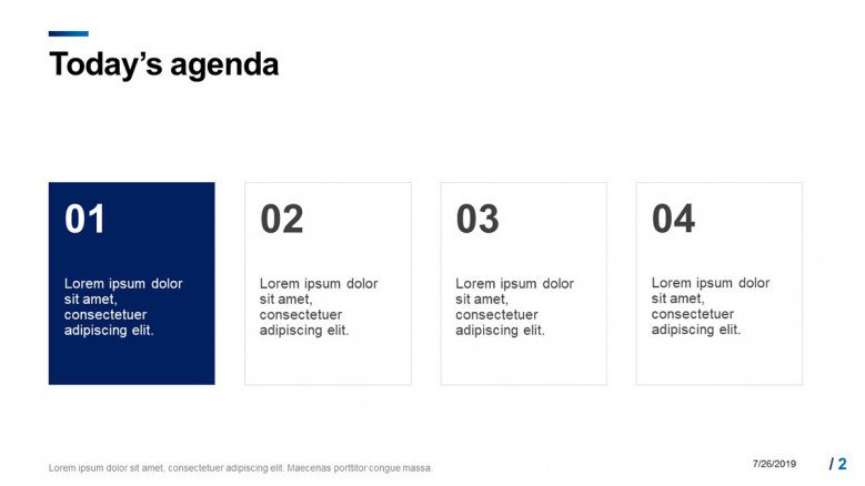Agenda for the Project Status Meeting