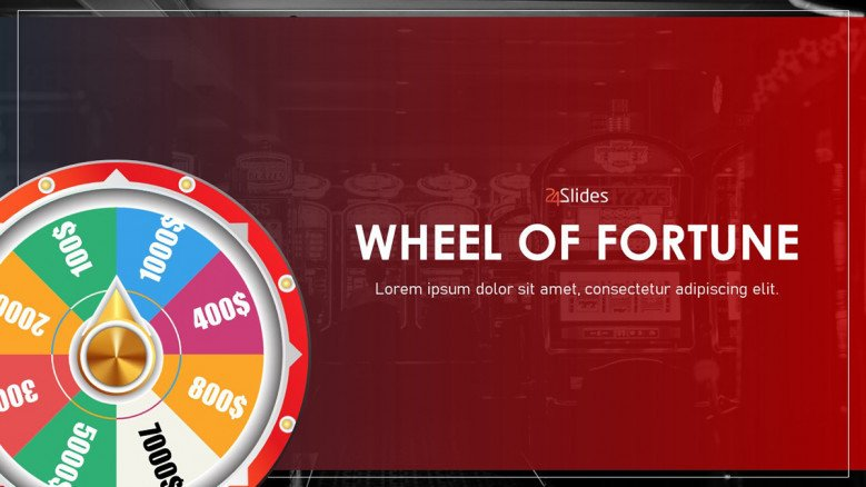 Wheel of fortune powerpoint template