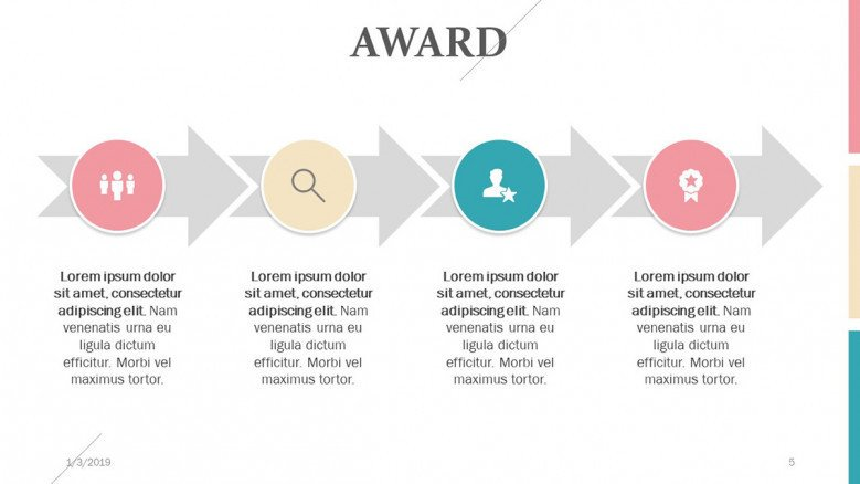 process chart in four steps for award presenting