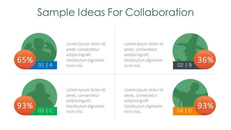 sample ideas for collaboration creative slide for halloween theme presentation