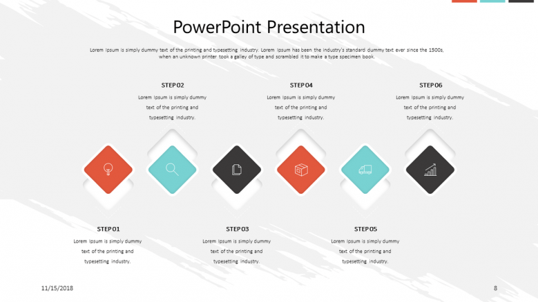corporate presentation in process chart