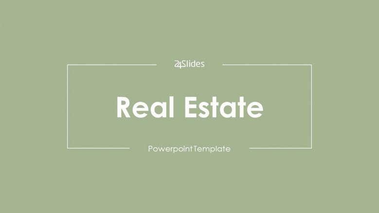 welcome slide for real estate presentation