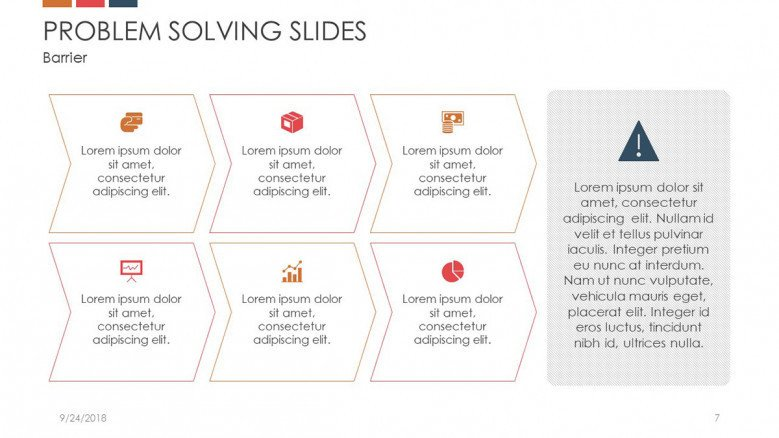 problem solving slide in six text box