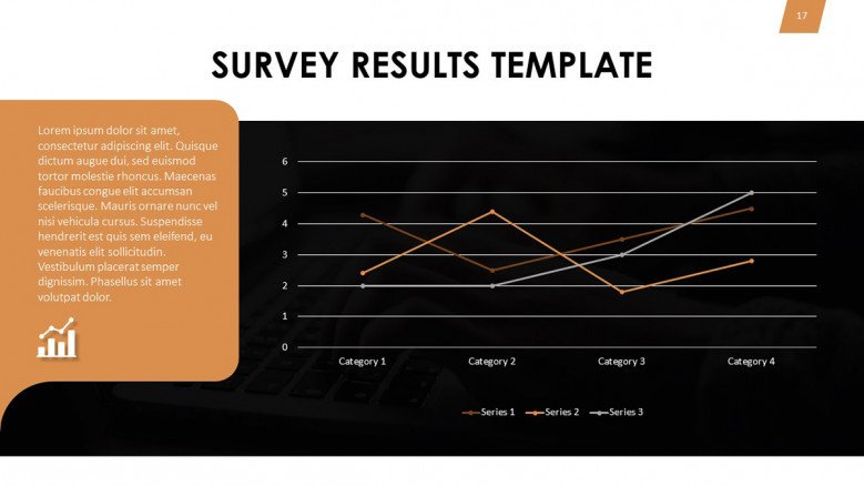 Line chart for survey results