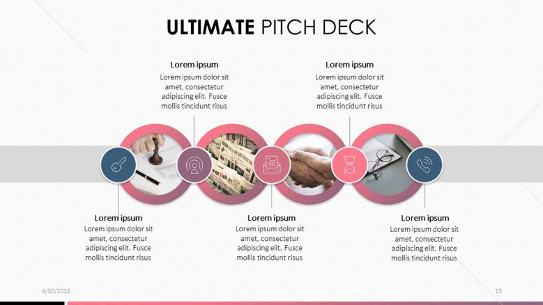 pitch deck in process chart with image
