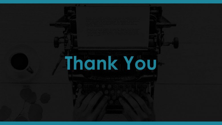 thank you slide for copywriter pitch deck presentation
