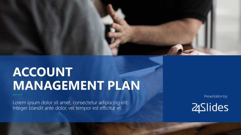 Account Management Title Slide in corporate style