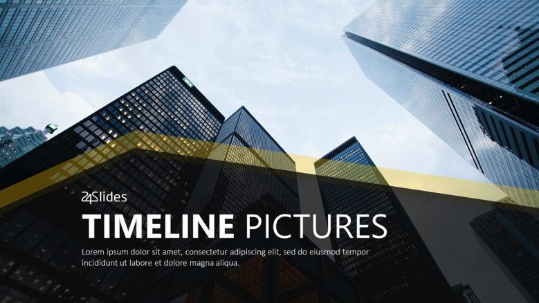 timeline picture welcome slide in corporate style