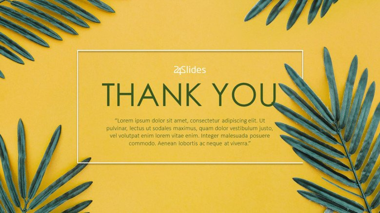 creative tropical themed thank you contemporary slide