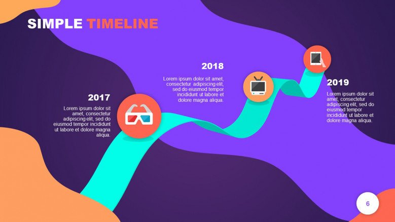 New Year Achievements Timeline with icons