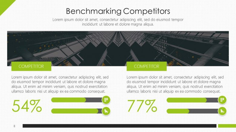 Bench marketing competitors slide