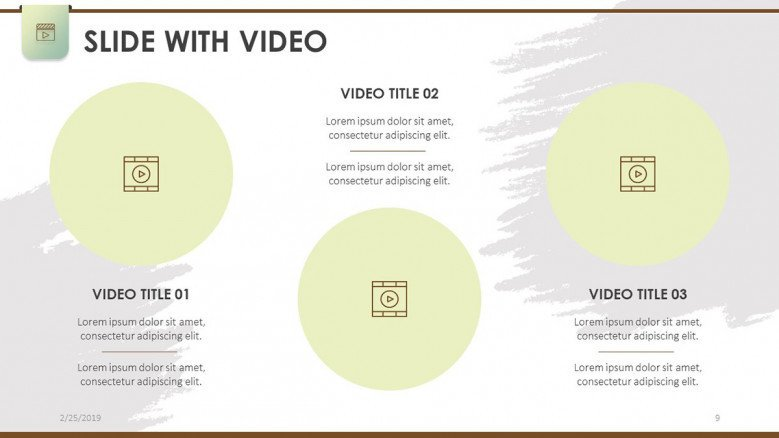 slide with video dashboard in three steps