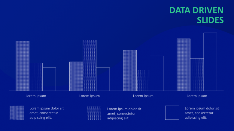 blue background bar chart