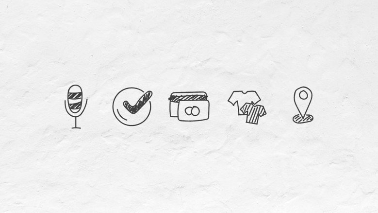 Set of doodle icons for presentations