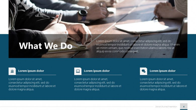 What We Do Slide for Business Presentations