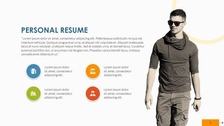 creative personal resume key point skill with picture