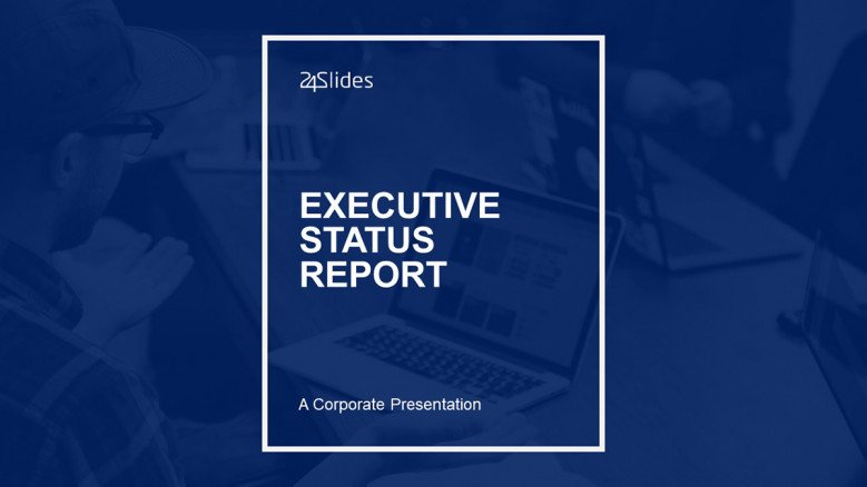 Executive Status Report Title Slide in corporate style