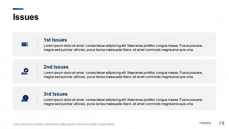 Project's Issues slide