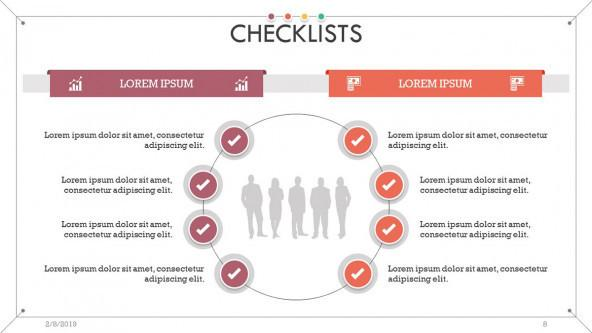 checklist slide in cycle chart