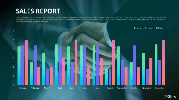 sales reports presentation template free powerpoint templates