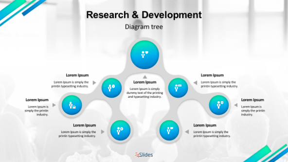 Creative research and development diagram tree slide