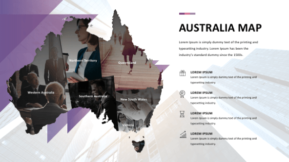 Australia maps powerpoint slides