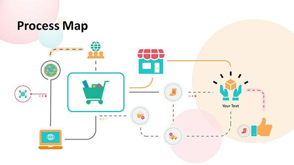 Buyer Process Map slide in playful style